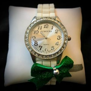 """LADIES """"RUMOURS-RELIC"""" WRIST-WATCH with WHITE BAND"""